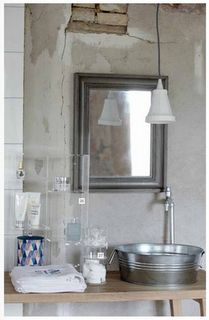 Spring, according to House Doctor. House Doctor, Style At Home, Galvanized Shower, Galvanized Metal, Home Suites, Tiny House Bathroom, Master Bathroom, Cuba, Diy Furniture Projects