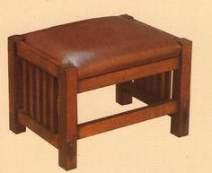 Mission Oak  Footstool Arts & Crafts by OakParkAntiques on Etsy, $179.00