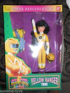 1994 Power Rangers Girls Trini Yellow Barbie Doll Figure TV Show