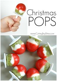 Christmas Popsicles- Healthy Holiday Snack for kids made with fruit and yogurt