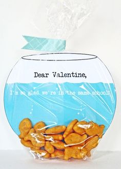 How-To: Goldfish Bowl Valentines  so cute! Maybe my VP will like it too!