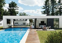 A Boston family chose a double dose of prefab for an addition to their home in the Massachusetts countryside.