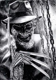 Mezco Nightmare on Elm Street 3 Freddy Krueger Designer Series Standard Horror Movie Tattoos, Horror Movie Characters, Horror Movie Posters, Arte Horror, Horror Artwork, Horror Icons, Classic Horror Movies, Nightmare On Elm Street, Halloween Horror