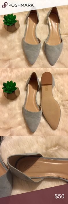 NWOT J. Crew Pointed Toe Flats NWOT J. Crew pointed toe flats. Baby blue color, size 9.5, never used, leather upper and leather lining. J. Crew Shoes Flats & Loafers