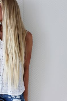 Long, blonde beach hair