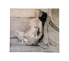 Mid-Century '59 Etude Sketch- A.Karlov on Chairish.com