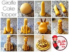 Giraffe Cake Topper Tutorial