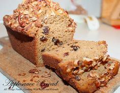 Cooking With Mary and Friends: Applesauce Bread with Crumble Topping