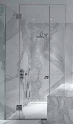 Nice Marble Shower #pierreetgalet #bathroomdesign #marble #salledebain #doucheenmarbre