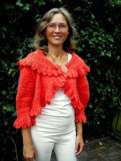 Maak het nou!: Zalm oranje vest / Salmon orange cardigan
