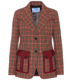 6a788e04bad Multicoloured houndstooth wool-blend jacket