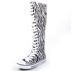 West Blvd Womens Canvas Sneakers Punk Skate Shoes Flat Lace Up Knee High Boots Skater Tall Dress Fashion Casual...