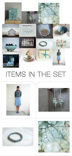"""""""blue on my mind"""" by yforyouonetsy ❤ liked on Polyvore featuring art"""