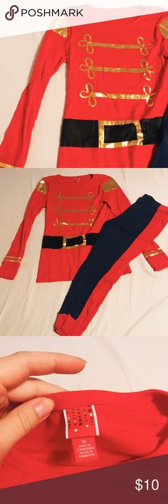 CHRISTMAS PJS - nutcracker Christmas pajamas Christmas pjs / pajamas  Unisex  Cotton stretchy material  Worn only once, no flaws  Nutcracker pjs   Pajama set   Pajama leggings and long sleeve shirt   Blue and red with gold shiny detail Macy's Intimates & Sleepwear Pajamas