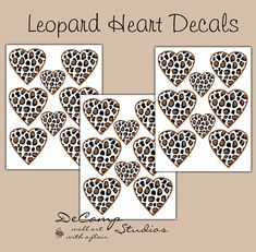 LEOPARD HEART DECALS Teen Girls Safari Animal Print Bedroom Decor Baby Nursery Kids Jungle Room Childrens Geometric Wall Art Stickers  sc 1 st  Pinterest & Blue Camo Heart wall decals for baby girl camouflage nursery or ...