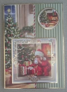 Handmade C5 Christmas Card by BavsCrafts on Etsy