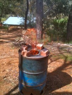 Making Biochar: first stove build