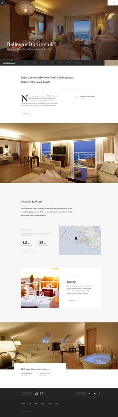 Adriatic Luxury Hotels Concept Hotel Website