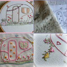 my caravan hand embroidery pattern pdf by LiliPopo on Etsy, £2.50