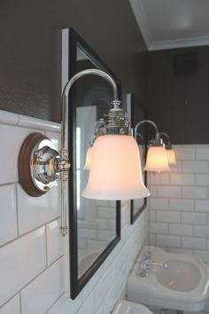 Badrumsbelysning / badrumslampor i klassisk gammaldags stil - Sekelskifte