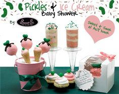 Pickles and Ice Cream Baby shower! WWW.INFANTEENIEBEENIE.COM~  the only hat guaranteed to fit and stay snug to all newborns!  top #newborn hospital hat!!