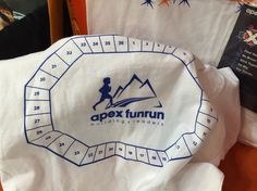 You can't lose track of your jog-a-thon laps when they're marked on your t-shirt! (Thanks for the idea, Apex Fun Runs!)