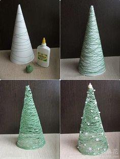 Tutoriales y DIYs: Cómo hacer un árbol de navidad pequeño.