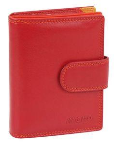 Damenbörse mit Klappe und Riegel (rot) - M17702RE