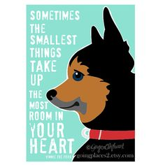 Chihuahua Artwork Wall Decor Dog Poster with Winnie the Pooh Quote