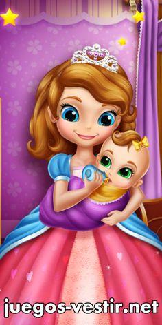 La #princesaSofía tiene una hermana pequeña y ahora le encanta #cuidar de ella, incluso en el medio de la noche #juegosdevestir   #juegosdeprincesas    http://www.juegos-vestir.net/jugar/princesa-sofia-y-su-hermana