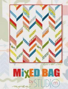 Moda Bake Shop: Jelly Roll Pattern  using Mixed Bag fabric in stores now.  @ModaFabrics