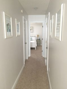 Painting trim is a great way to update a dark hallway. Love these tips!