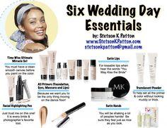 6 Wedding Day Essentials  www.marykay.com/meganbowers www.facebook.com/meganbowersmk