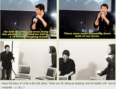 [GIFSET] Jared and Misha take a break to be in hysterics ;)