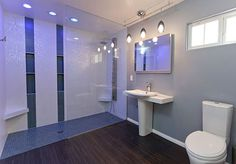 Universal design = aging in place Curbless Roll-in Shower : Los Angeles Universal Bathroom Design Bathroom Styling, Custom Bathroom, Accessible Bathroom, Remodel, Modern Bathroom, Bathrooms Remodel, Bathroom Sink Stopper, Bathroom Design, Shower Design