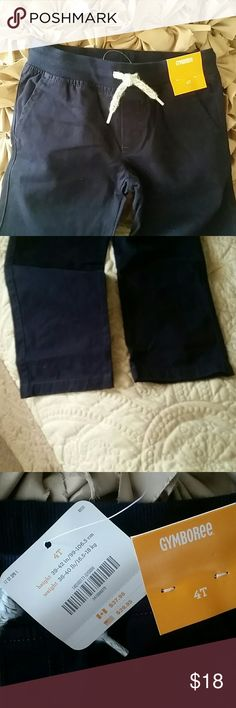 Navy Blue Khakis NWT Navy khaki pants with elastic waist,  two front and two back pockets Gymboree Bottoms
