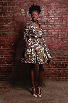 The Gugu print Wrap Coat Dress African Inspired Fashion, African Print Fashion, Fashion Prints, Ankara Fashion, Ethnic Fashion, Urban Fashion, African Attire, African Wear, African Dress