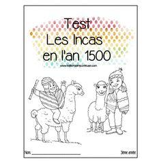 TEST,DICTÉE et RÉVISION SUR  INCAS en 1500 Boutique, Socialism