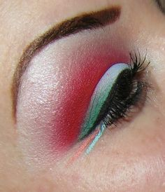 Red and Teal http://www.makeupbee.com/look_Red-and-Teal_45220