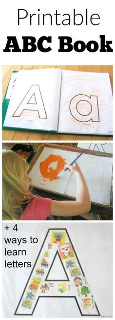 Printable ABC book and preschool learning activities for learning the alphabet. Includes free printables.