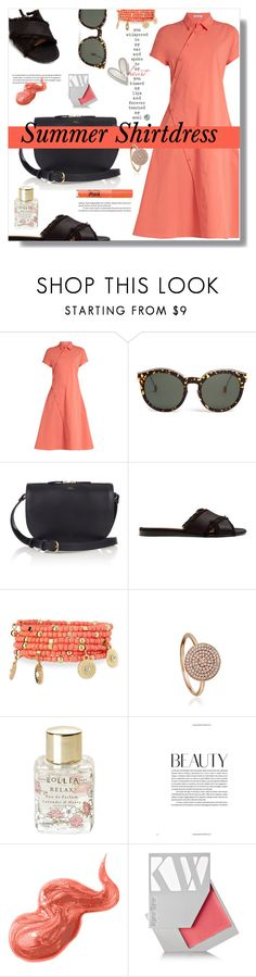 """""""Summer Shirtdress"""" by marialibra on Polyvore featuring Tomas Maier, Christian Dior, A.P.C., Gianvito Rossi, Emily & Ashley, Astley Clarke, Lollia, Bobbi Brown Cosmetics, Kjaer Weis and Too Faced Cosmetics"""