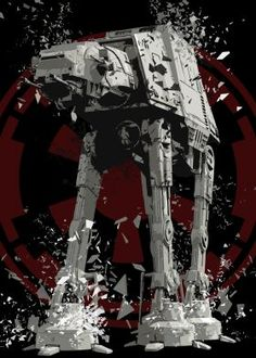 steel canvas Movies & TV star wars at at imperial walker galactic empire shattered
