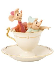 Lenox Collectible Disney Figurine, Cinderella Tea Party Pals
