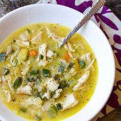 Turkey Soup With Poblano Peppers