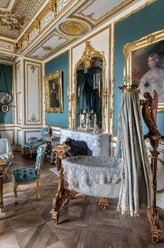 Salons Violet, Fairytale Bedroom, Bohemian Bedroom Decor, Restaurant, French Chateau, French Countryside, France, Versailles, Decoration