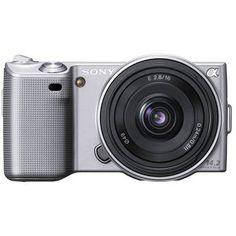 Sony Alpha NEX-5 Interchangeable Lens Digital Camera w/16mm f/2.8 Lens (Silver)