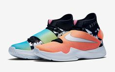 Shoes: rose roshe runs colorful multicolor white nike nike nike... ❤ liked on Polyvore featuring shoes* neon pink shoes* fluorescent shoes* nike* rose shoes and nike shoes