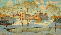Konstantin I. Gorbatov(1876ー1945)「Russian Monastry in Winter」(1909)