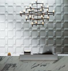 Textured accent wall