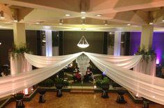 Wedding Reception Décor - Chandelier & Draping